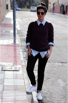 Zara jumper - BLANCO shirt - Zara pants - Superga sneakers