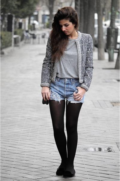 Zara jacket - Levis shorts - Zara flats - Zara t-shirt