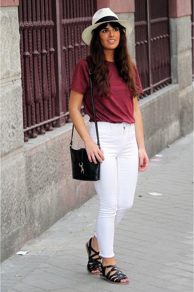 H&M pants - Urban Outfitters bag - Topshop flats - H&M t-shirt