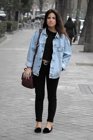 Levis jacket - Urban Outfitters bag - Zara pants - & other stories jumper