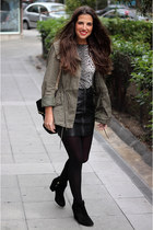 H&M jacket - Zara boots - Zara top - H&M skirt