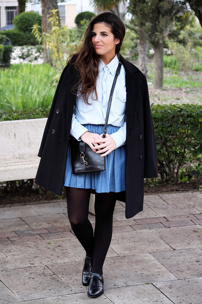 Mango coat - BLANCO shirt - Urban Outfitters bag - Massimo Dutti flats