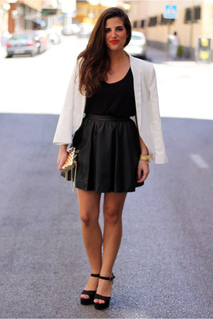 Mango blazer - Mango bag - H&amp;M skirt - Parfois heels - H&amp;M t-shirt