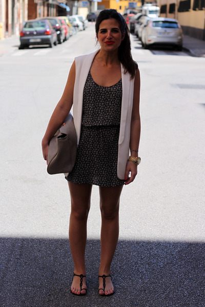 Zara bag - H&M dress - Zara vest