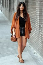 Zara jacket - Urban Outfitters bag - Levis shorts - Topshop flats - Zara top