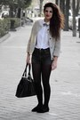 Zara-coat-pull-bear-shirt-zara-bag-levis-shorts-zara-flats