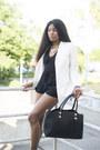 White-classy-sheinsidecom-blazer-black-faux-leather-yooxcom-bag
