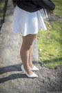 Dark-gray-tally-weijl-sweater-white-h-m-bag-ivory-h-m-skirt