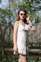 silver Hark necklace - ivory The Dress Shop dress - silver Hark bracelet