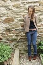 tawny Wallflower Vintage blazer - black Forever 21 t-shirt - tan Forever 21 t-sh