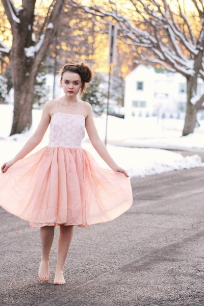 peach 1950s Wallflower Vintage dress