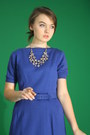 Blue-1960s-wallflower-vintage-dress-silver-the-dress-shop-necklace
