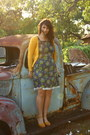 Navy-handmade-dress-mustard-mossimo-cardigan-mustard-lauren-conrad-wedges