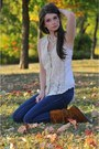 Minnetonka-boots-jeans-anthropologie-vest-pearl-necklace