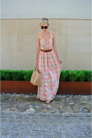 pastel Mango dress - bag Zara bag - sunnies Mango sunglasses