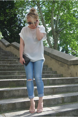 jeans Zara jeans - clutch Urban Outfitters bag