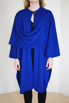Blue Draped Knit Vintage Capes