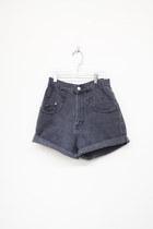 Charcoal-gray-vintage-shorts