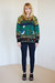 teal vintage sweater