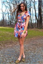 bubble gum Forever 21 dress - bronze Target belt - bronze Steve Madden loafers