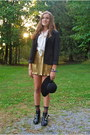 Gold-shiny-forever-21-skirt-black-gold-buckle-dolce-vita-for-target-boots