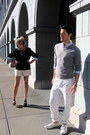 White-printed-pants-club-monaco-pants