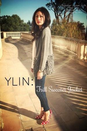 YLIN jacket - Anlo jeans - Miu Miu heels