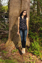 American Eagle jeans - Surfdome top - Forever 21 flats