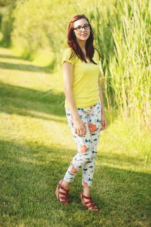 Gap pants - Target t-shirt - Forever 21 wedges