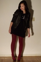 Urban Outfitters jacket - Kenzie dress - Marshalls tights - Nine West shoes