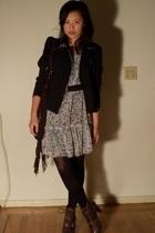 Pimkie dress - DIY jacket - thrifted belt - Givenchy tights - Solestruckcom shoe