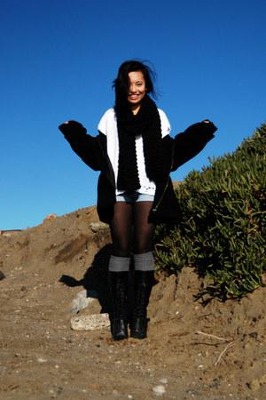 vintage coat - Marshalls boots