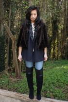 vintage blouse - DSW boots