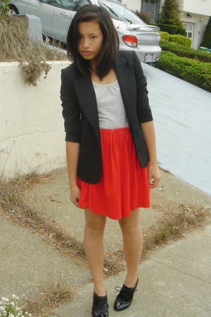 thrifted blazer - forever 21 top - homemade skirt - Steve Madden shoes