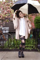 light pink vintage jacket - black American Apparel tights