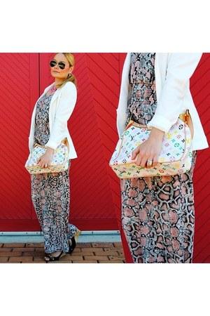 Tommy Hilfiger wedges - hm blazer - Louis Vuitton purse - Ray Ban sunglasses