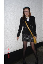 black brogues Primark shoes - black military jacket Awear jacket