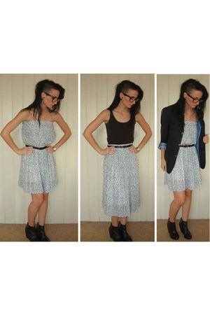 blue Thrift Store skirt - black Thrift Store blazer