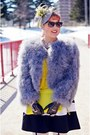 Yellow-danier-purse-heather-gray-feathers-bcbg-max-azria-coat