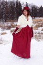 Maroon-something-specail-hat-ivory-melanie-lyne-jacket