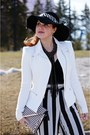 Black-clutch-aldo-bag-white-bcbg-max-azria-jacket