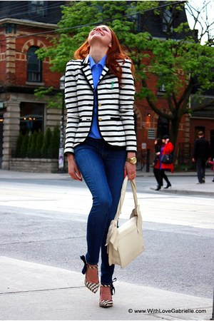 tory burch heels - 7 for all mankind jeans - Juicy Couture blazer