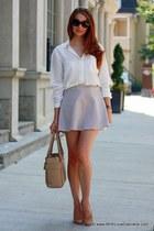 Club Monaco skirt - kate spade bag - J Crew heels - Club Monaco blouse
