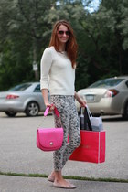 kate spade purse - J Brand jeans - Gap sweater - kate spade sunglasses