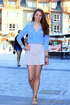 talula babaton blouse - Kantu sandals - Club Monaco skirt - Ted Rossi bracelet