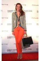 la vie en rose bra - Juicy Couture jacket - J Crew heels - Juicy Couture pants