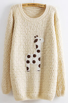 Lovely Dots & Giraffe Pattern Sweater more colors