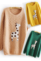 Lovely Dots & Giraffe Pattern Sweater