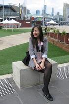 pink Forever 21 dress - black Sportsgirl shoes - gray Factorie blazer
