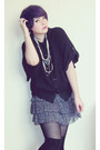 Black-thats-it-sweater-periwinkle-thats-it-skirt-ivory-vintage-necklace
